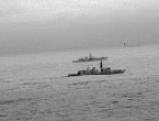 Bliski susret britanskog i ruskog ratnog broda u Sjevernom moru