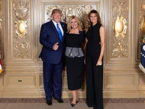 Susret hrvatske predsjednice i supružnika Trump
