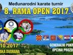 "Najava: 8. Međunarodni karate turnir ""RAMA OPEN 2017"""