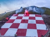 Izrađen golemi grb Herceg Bosne na planini Plazenica