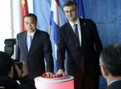 Plenković s kineskim premijerom simbolično spustio posljednji pilot za izgradnju Pelješkog mosta