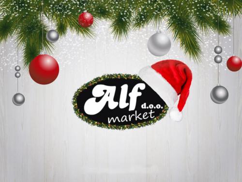 Božićna čestitka: Alf Market