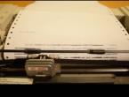 VIDEO: Poslušajte prastari printer kako izvodi veliki hit