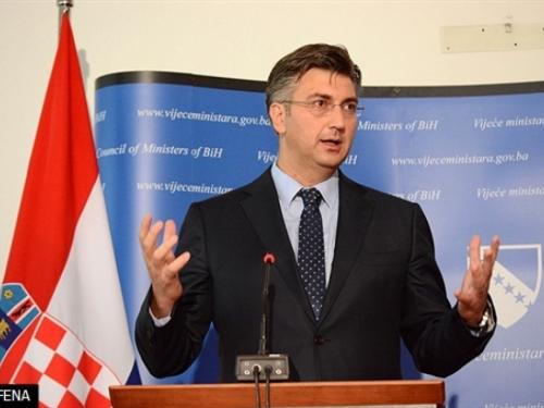 """Plenković: """"Neka se Dačić zapita iz koje stranke dolazi"""""""