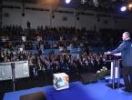 U prepunoj dvorani u Prozoru HDZ i HNS BiH održali predizborni skup