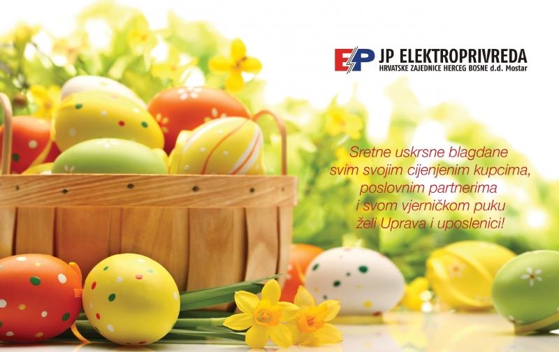 poslovne uskrsne čestitke Rama Prozor.Info • Sretan Uskrs želi vam Elektroprivreda HZ HB dd  poslovne uskrsne čestitke